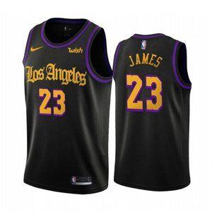 Los Angeles Lakers LeBron James Black Jersey